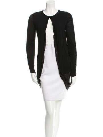 Vera Wang Draped Wool Sweater None