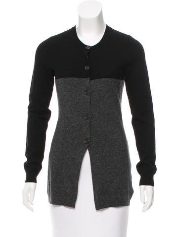 Vera Wang Merino Wool Colorblock Cardigan None
