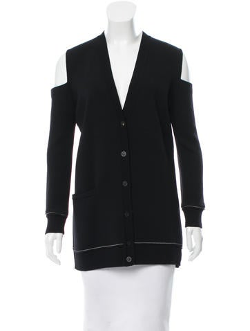 Vera Wang Cutout Knit Cardigan None