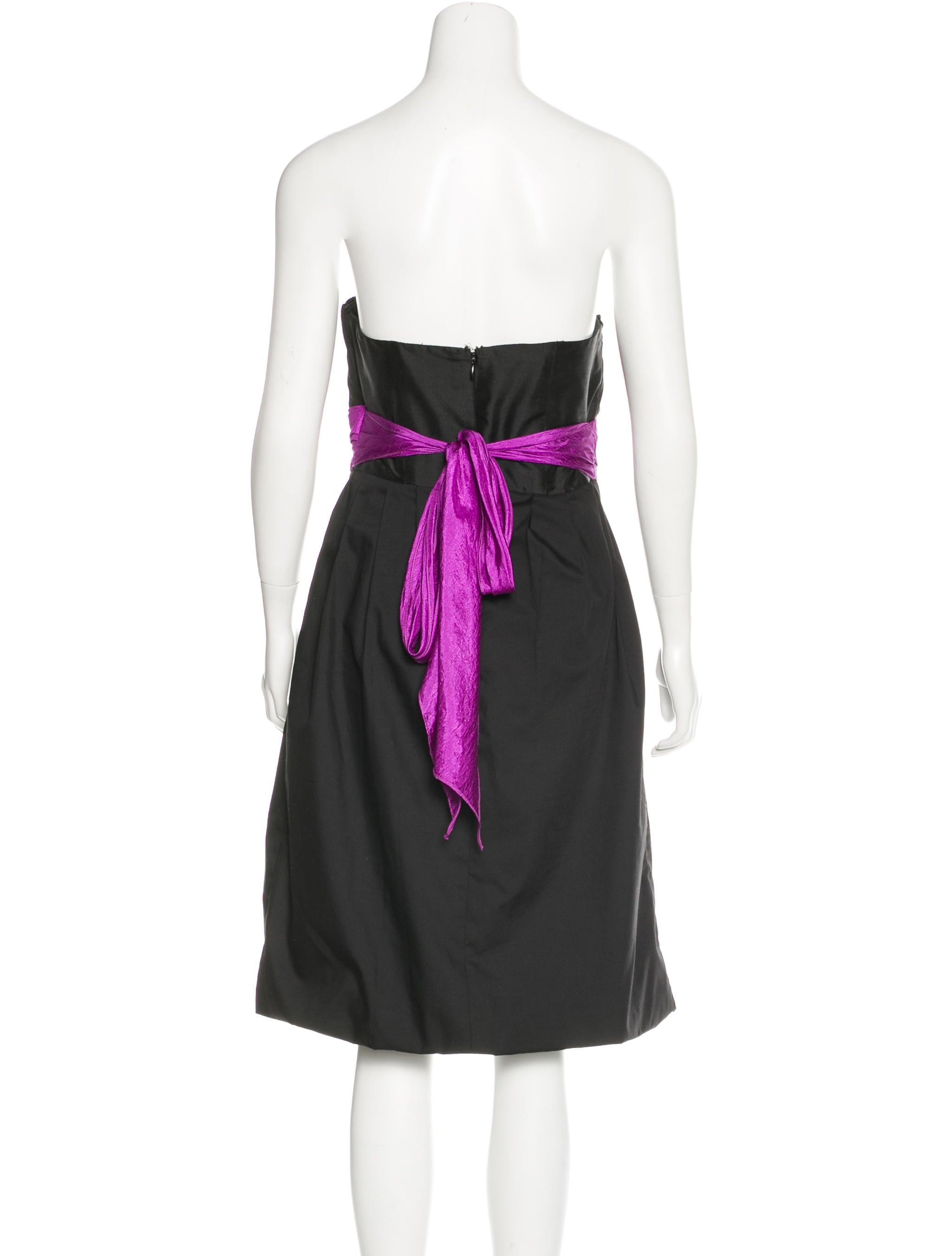 Vera wang embroidered silk dress clothing ver