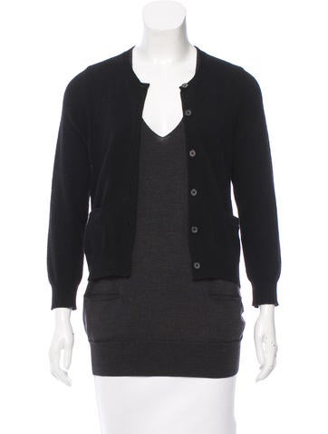 Vera Wang Layered Wool Sweater None