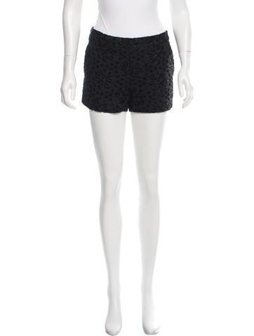 Vera Wang Eyelet Mini Shorts