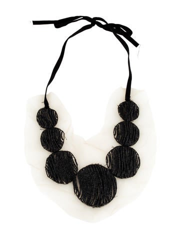 Vera Wang Beaded Mesh Necklace None