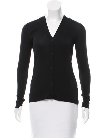 Vera Wang Cashmere Knit Cardigan None