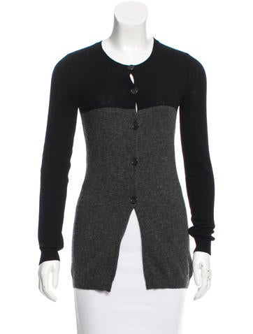 Vera Wang Wool Long Sleeve Cardigan None