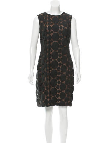 Vera Wang Dot Pattern Knee-Length Dress None