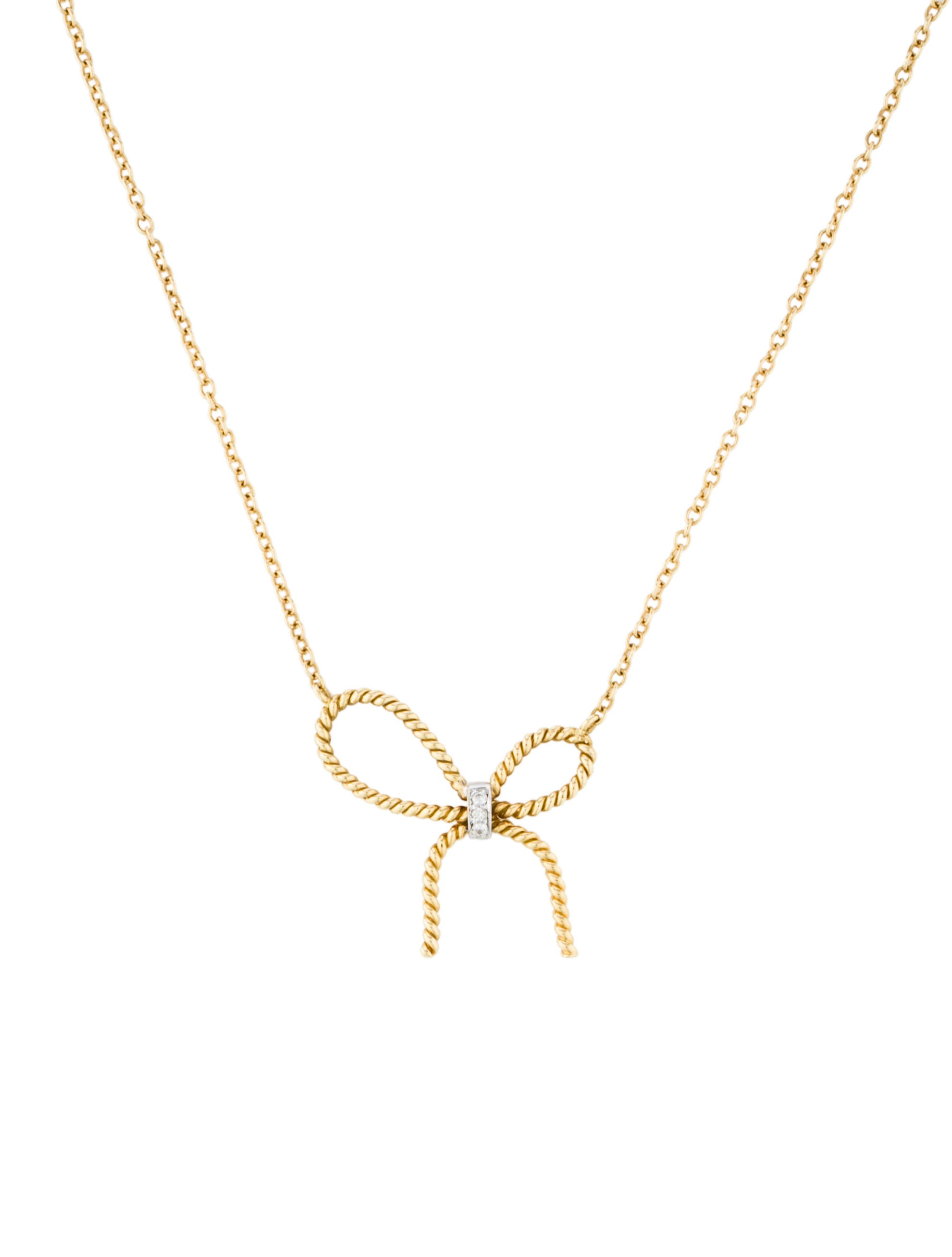 bow graff collections diamond featuring pav a necklace open motif