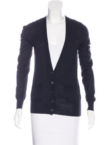 Vera Wang Long Sleeve V-Neck Cardigan None