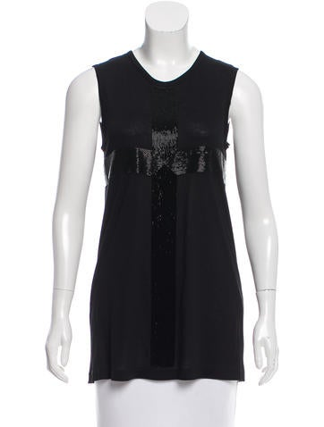 Vera Wang Sleeveless Fluid Embellished Top w/ Tags None