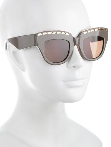 Marli Embellished Sunglasses
