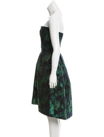 Brocade Knee-Length Dress
