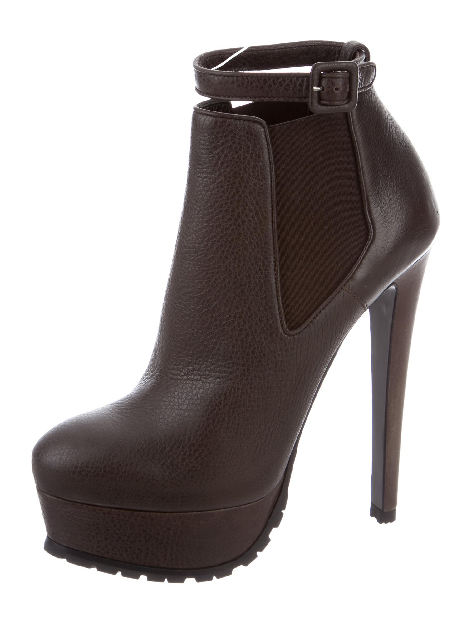 vera wang leather platform booties shoes ver25947
