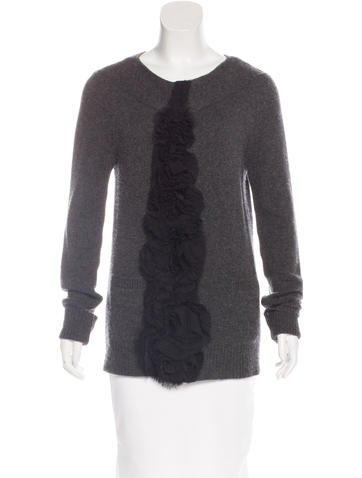 Vera Wang Cashmere Appliqué Cardigan None