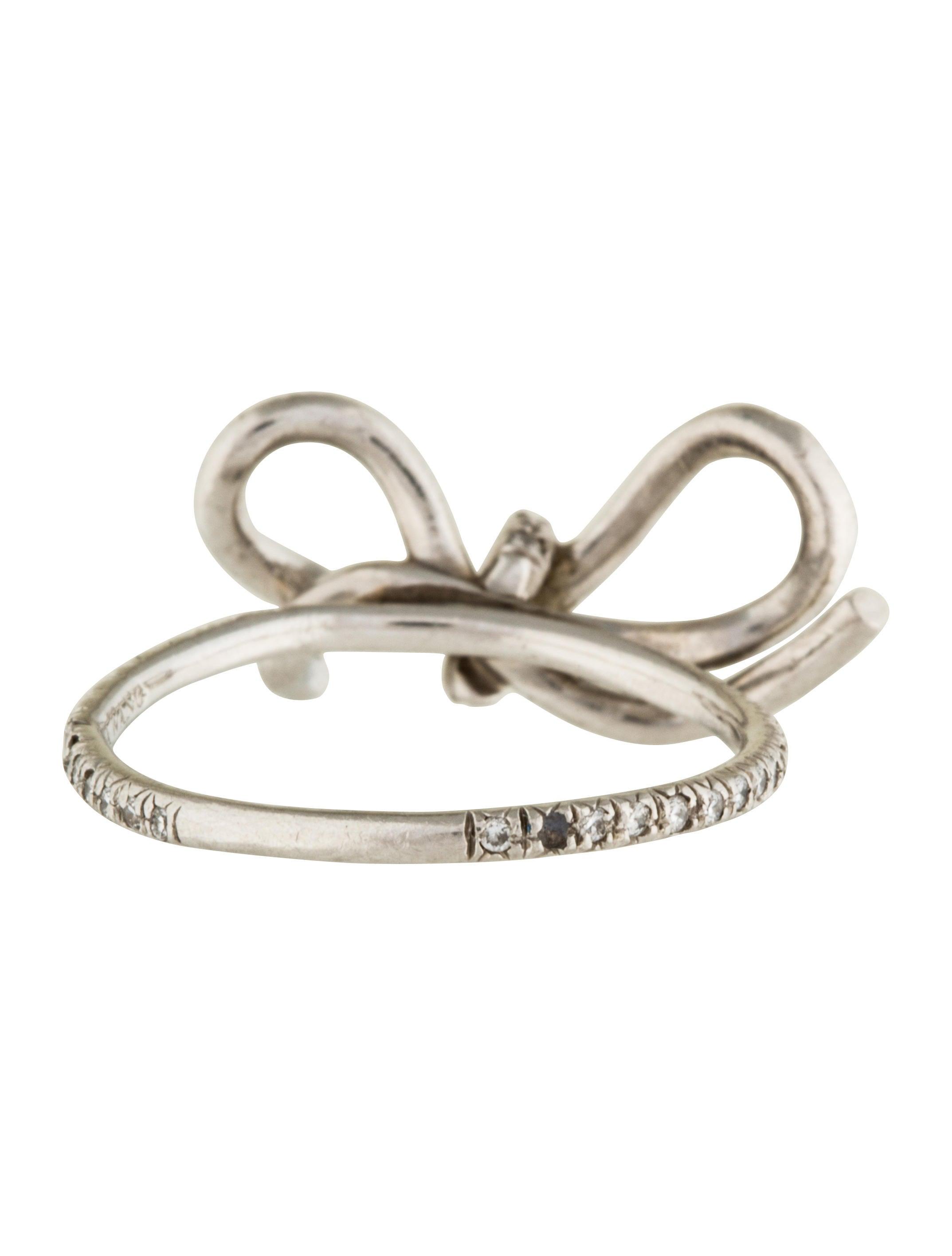 Ring Bow Il Gioiello Personalizzabile Con La Tua Nailart: Vera Wang Platinum & Diamond Bow Ring