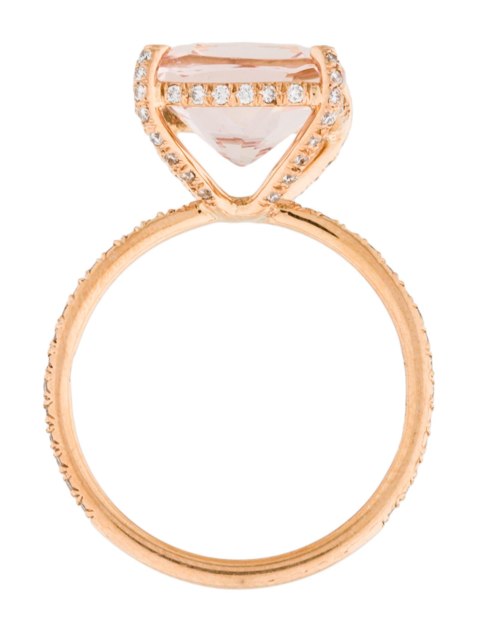Vera Wang 18K Morganite & Diamond Candy Ring Rings VER