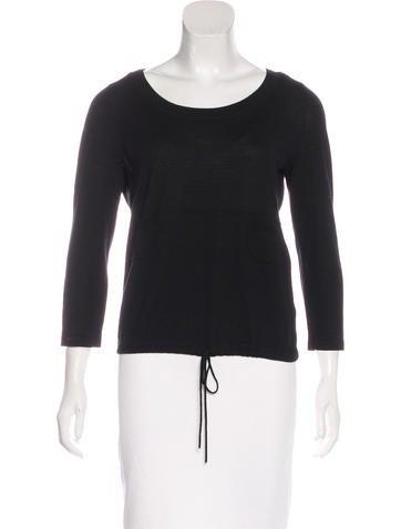 Vera Wang Merino Wool Scoop Neck Sweater None