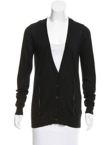 Vera Wang Long Sleeve Button Up Cardigan None