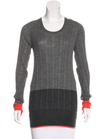 Vera Wang Wool Knit Sweater None