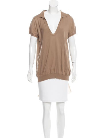 Vera Wang Short Sleeve Knit Top None