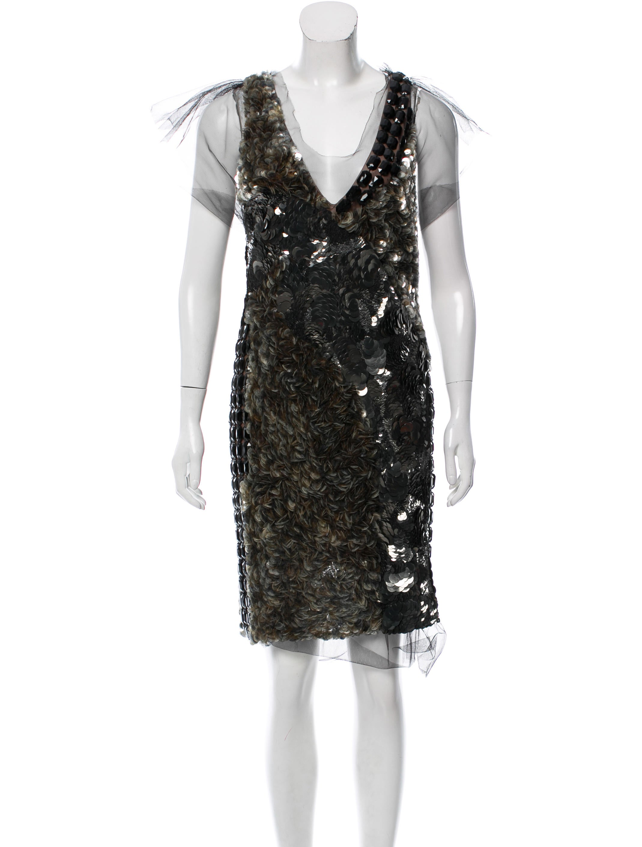 Vera Wang Embellished Cocktail Dress - Clothing - VER26914 | The ...