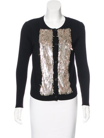 Vera Wang Wool Embellished Cardigan None