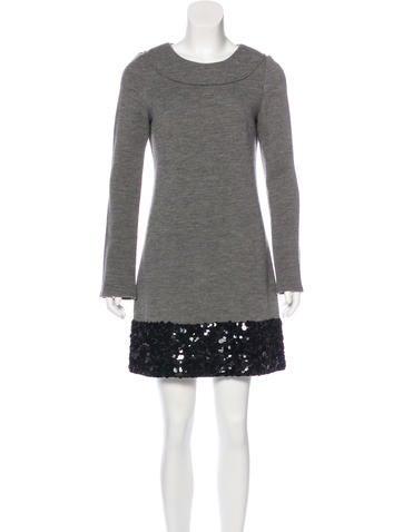 Vera Wang Wool Sweater Dress None