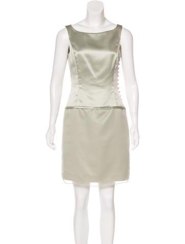 Vera Wang Sleeveless Mini Dress None
