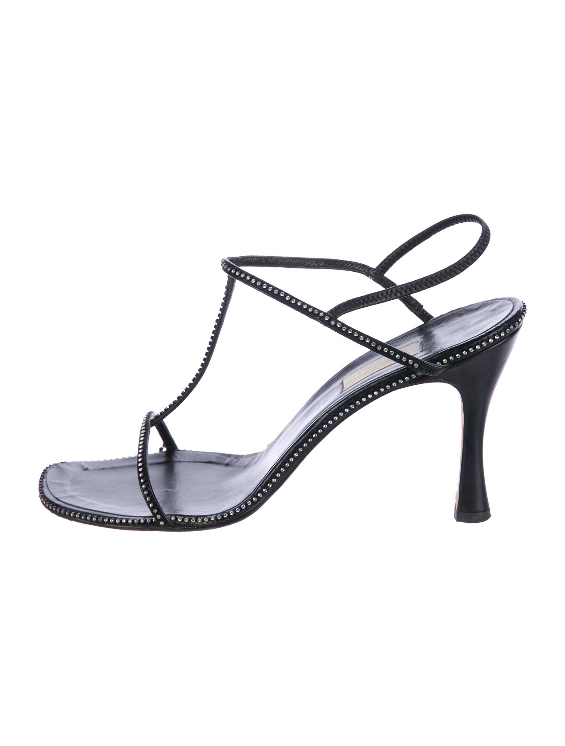 Vera Wang Rhinestone Accented Slingback Sandals discount best 7d56xcslrK