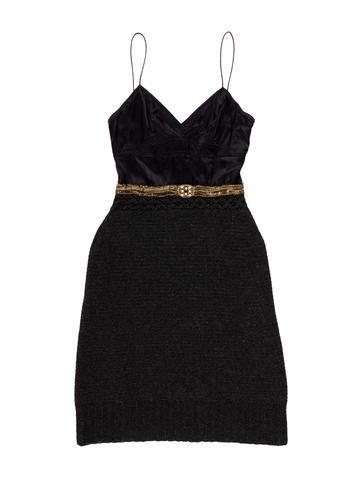 Vera Wang Silk Midi Dress None
