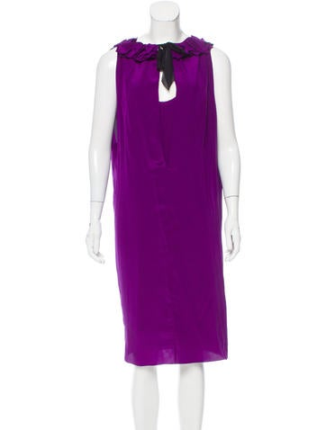Vera Wang Layered Silk Dress None