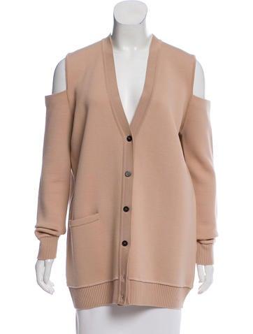 Vera Wang Cold-Shoulder Wool Cardigan None