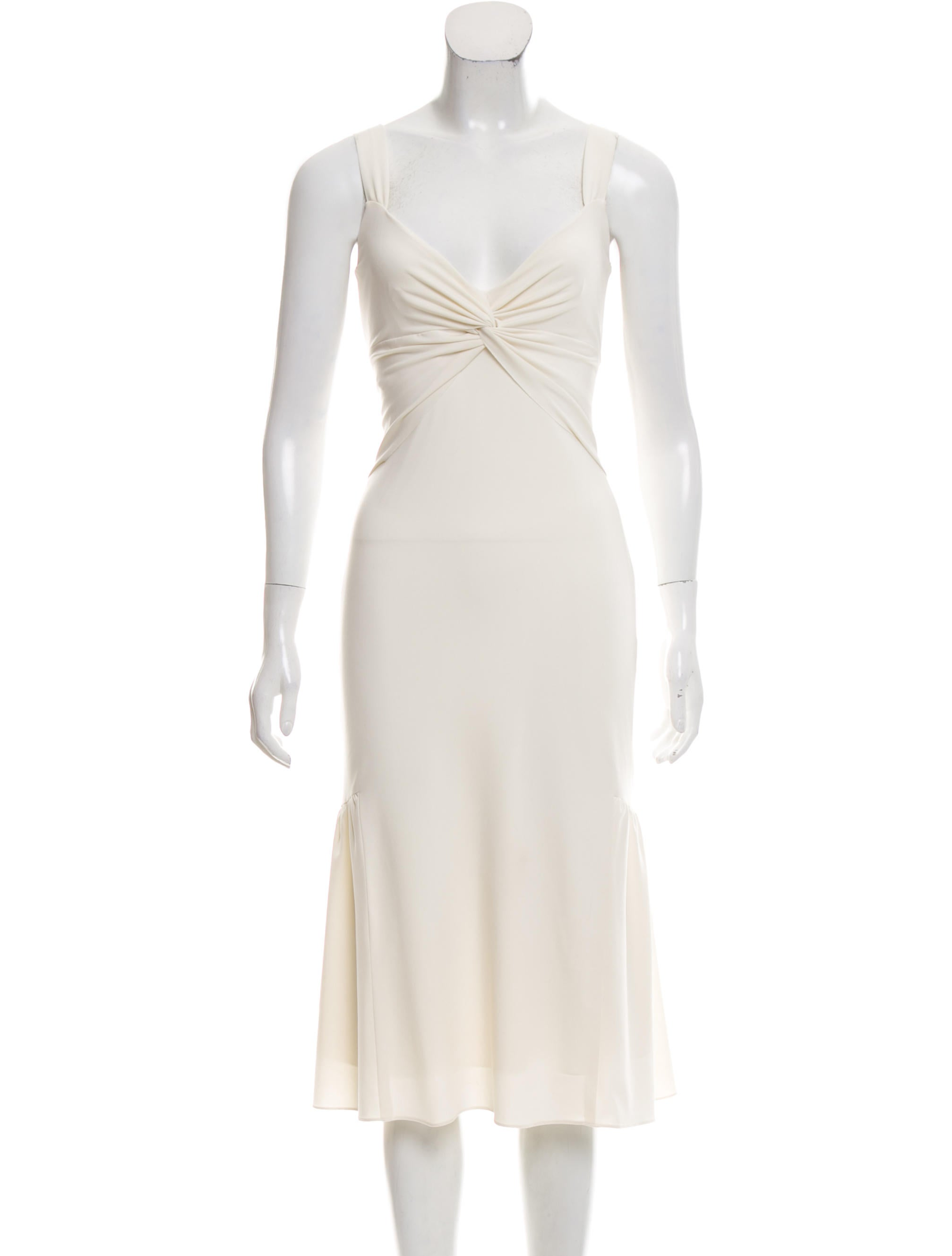 Vera Wang Tie-Waist Cocktail Dress - Clothing - VER27349 | The RealReal