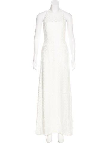 Vera Wang Lace Evening Dress None