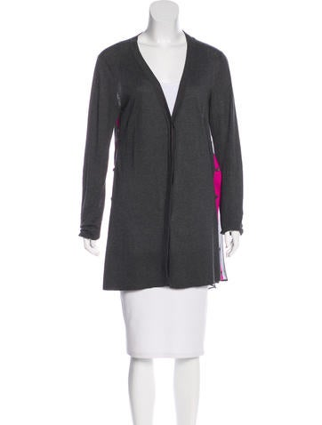 Vera Wang Long Sleeve Button-Up Cardigan None