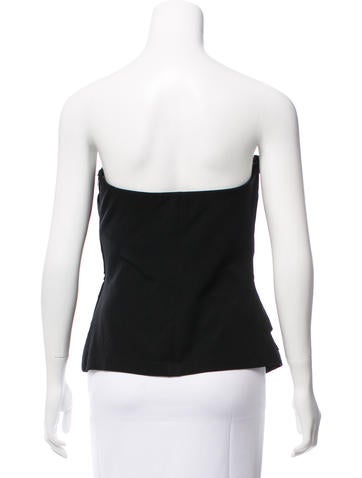 Vera Wang Zip Accented Bustier Top Clothing Ver27705 The Realreal