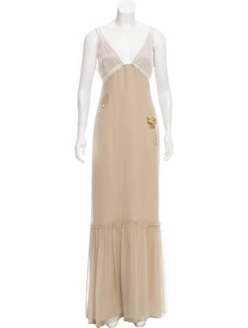 Vera Wang Sleeveless Evening Dress None