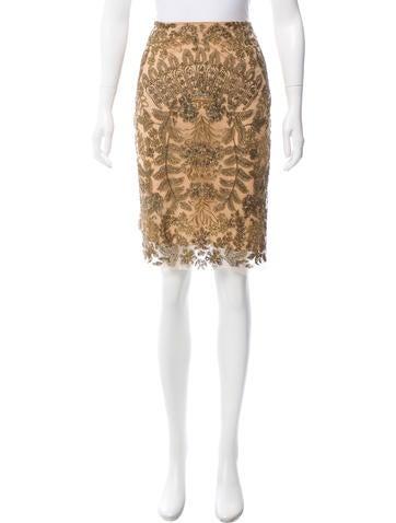 Vera Wang Knee-Length Skirt None