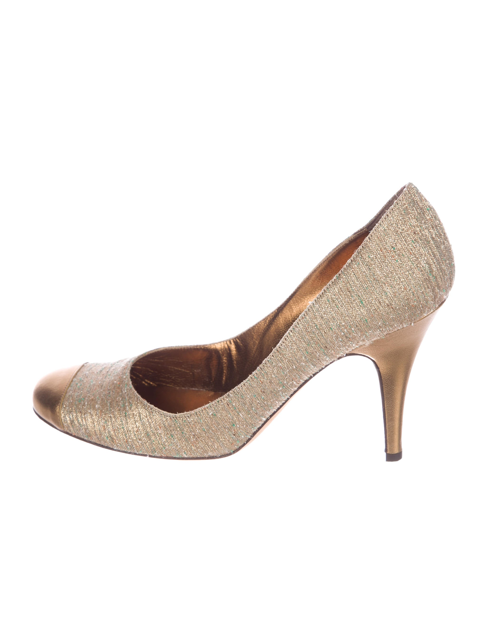 Vera Wang Tweed Cap-Toe Pumps outlet 2015 discount wholesale price on hot sale llz2co4NEd