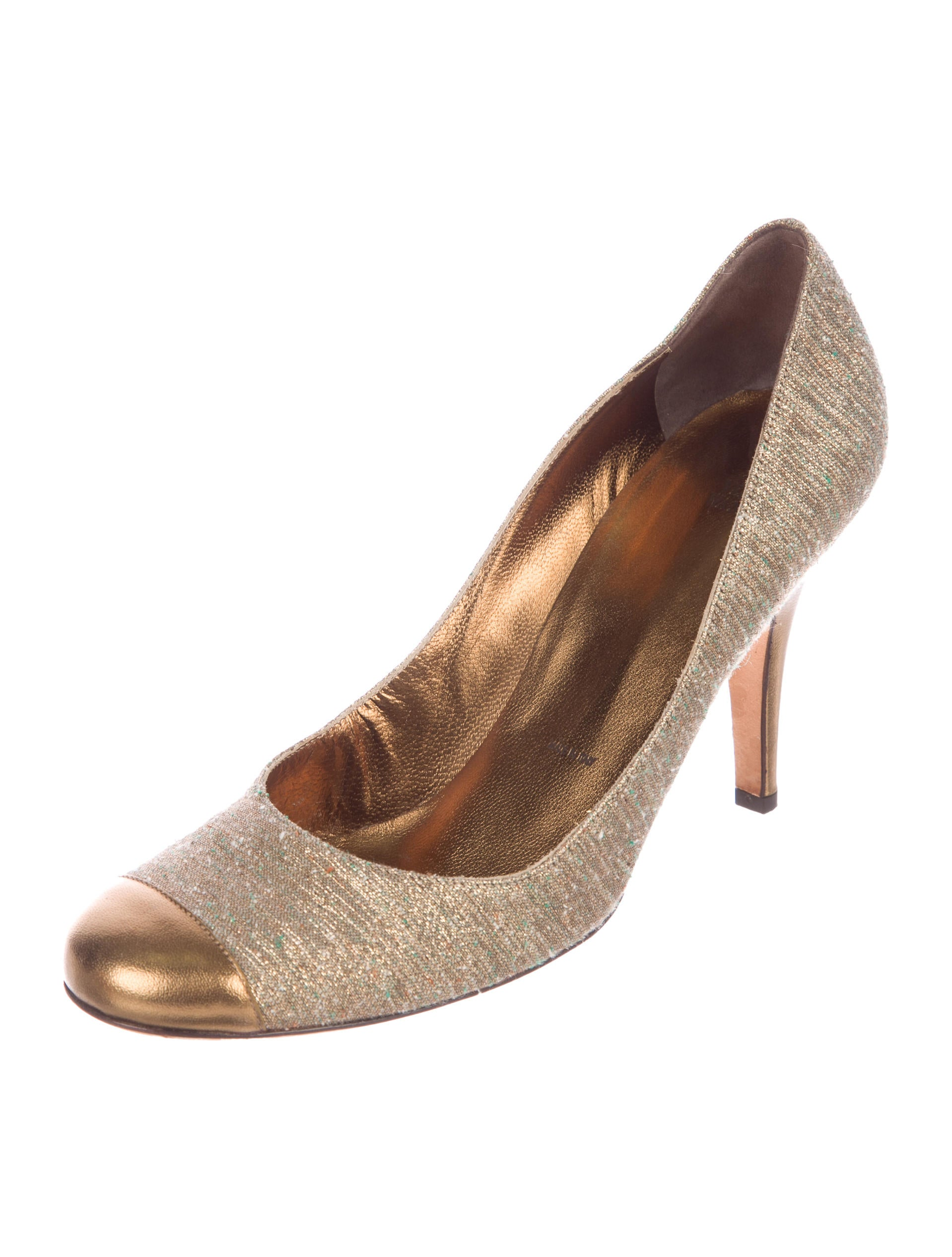 deals sale online Vera Wang Tweed Cap-Toe Pumps original for sale buy cheap low cost cheap sale discounts cheap price low shipping fee n1ZZp3wP