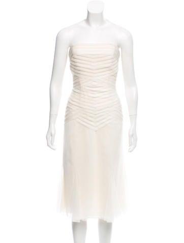 Vera Wang Sleeveless Knee-Length Dress None