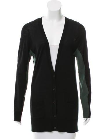 Vera Wang Colorblock Wool Cardigan None