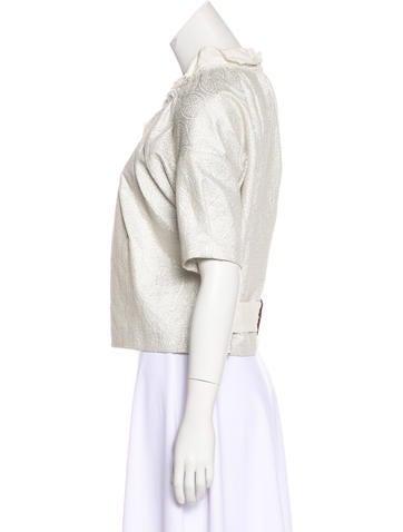 Metallic Cropped Jacket
