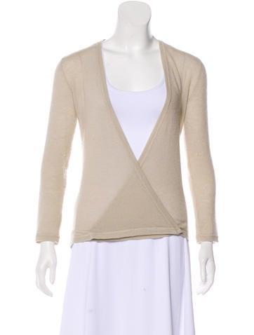 Vera Wang Long Sleeve Cashmere Cardigan None