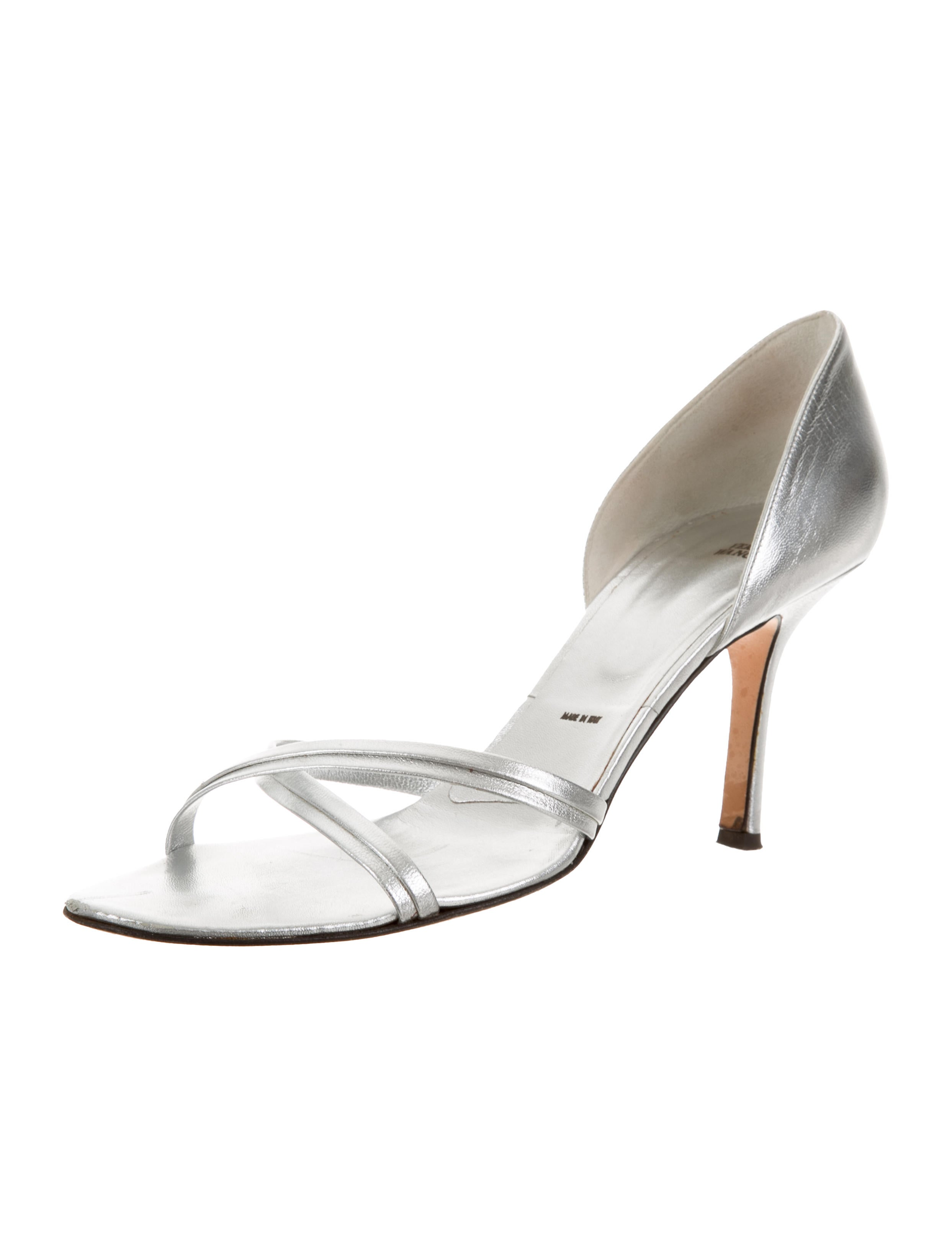 Vera Wang Leather Round-Toe Sandals 100% authentic for sale outlet store cheap online discount clearance Y13tNs