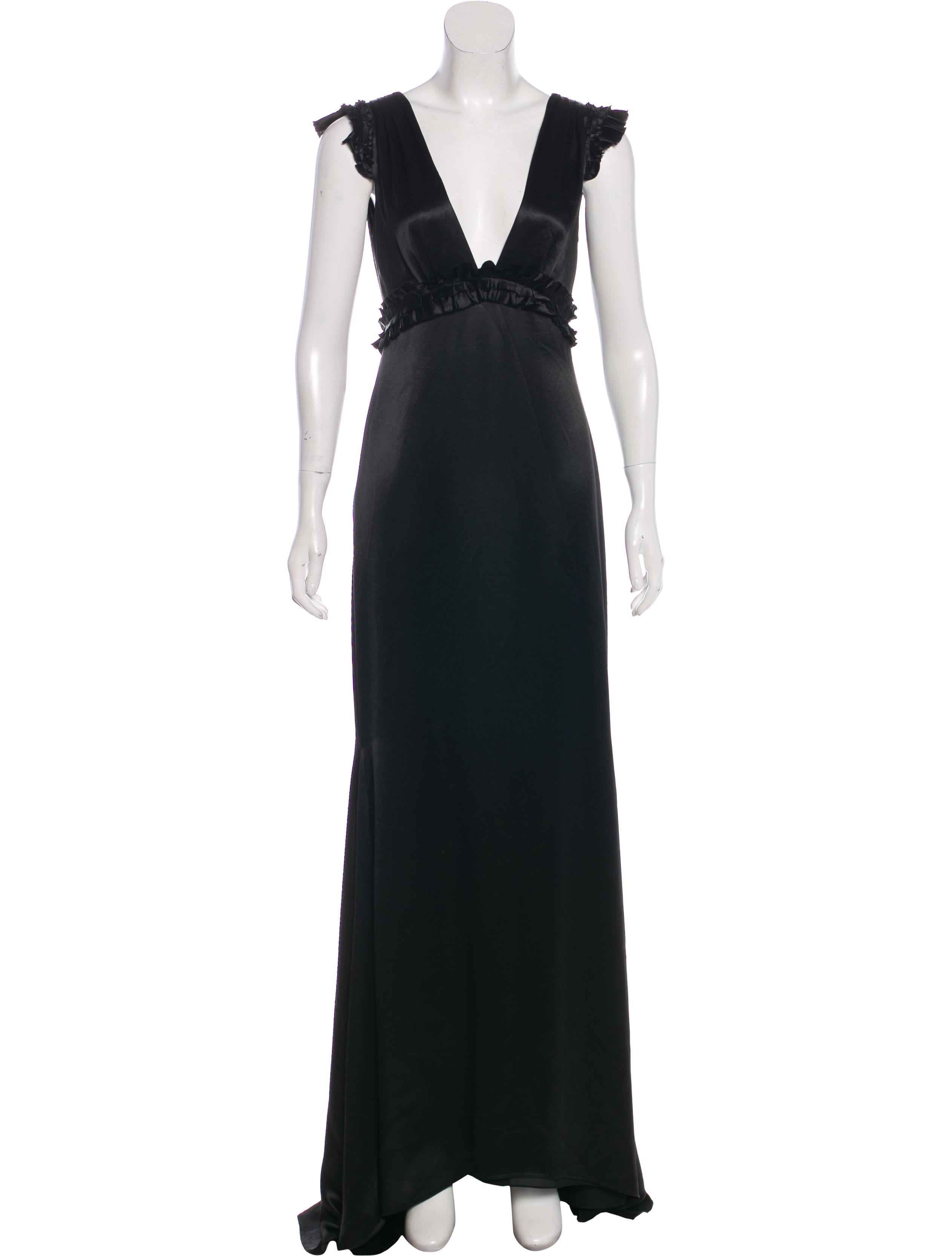 Vera Wang Pleated Evening Dress - Clothing - VER29639   The RealReal