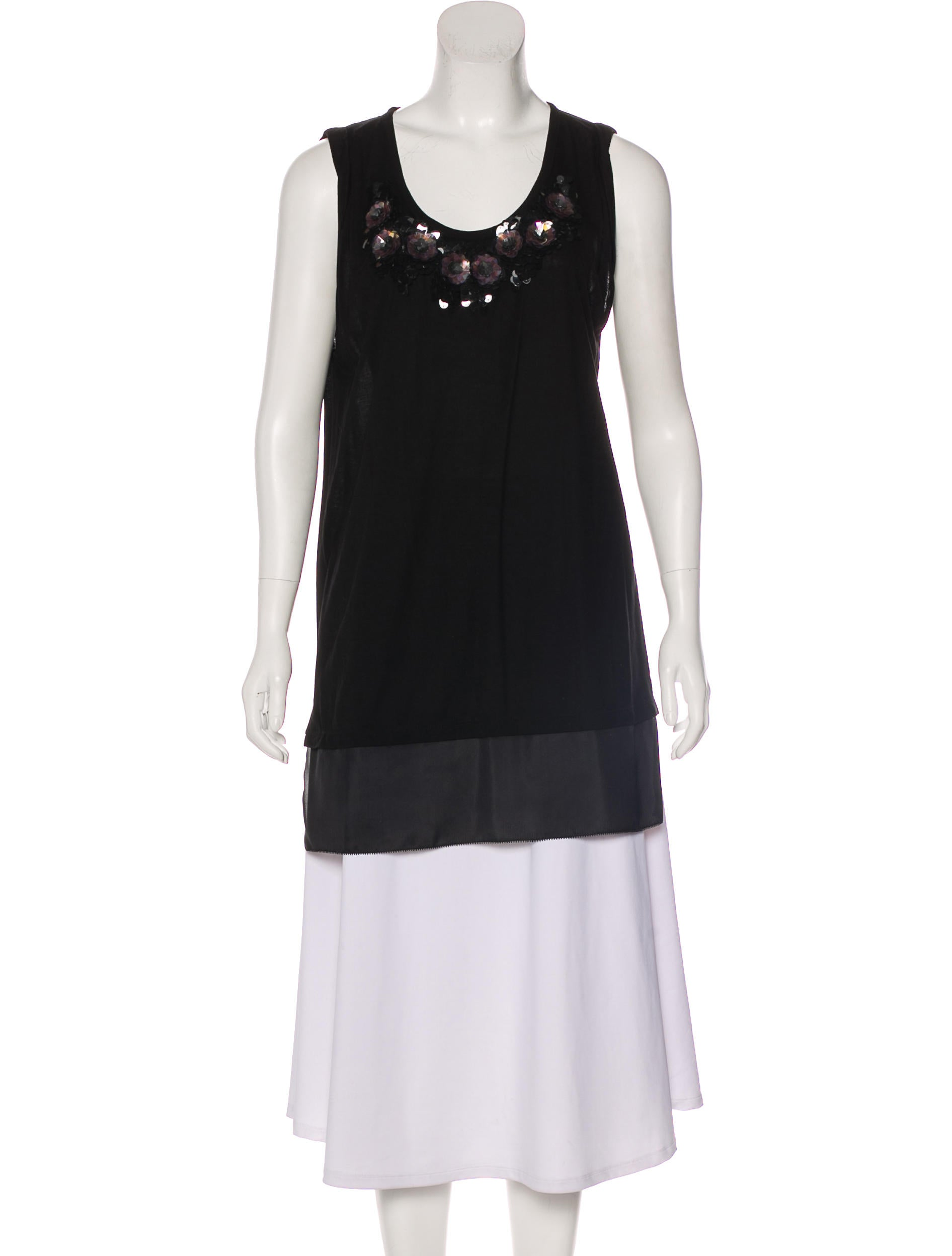 Ver30104The Clothing Tunic Wang Sleeveless Vera Embellished 3LAj45R