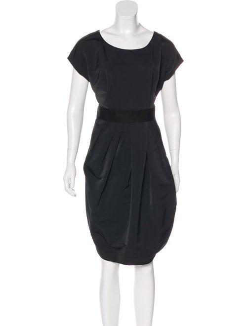 Vera Wang Flared Midi Dress Black
