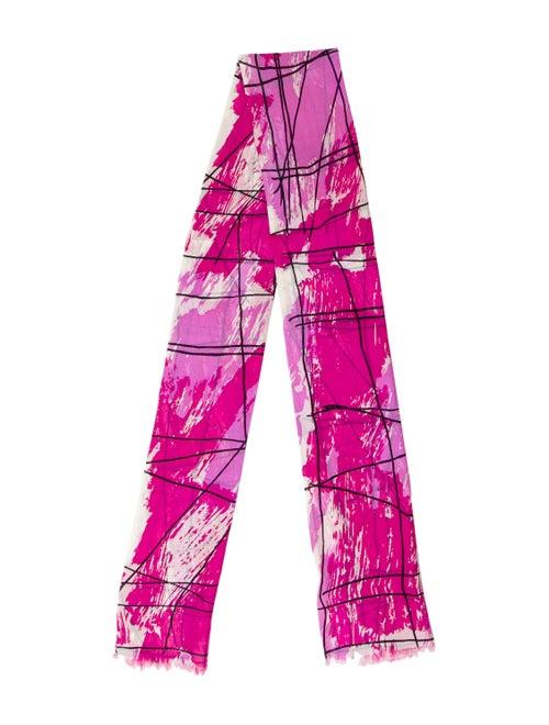 Vera Wang Printed Silk Scarf multicolor