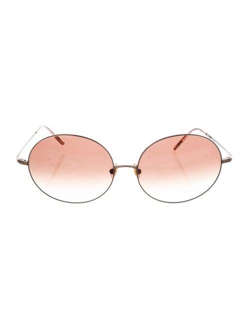 Vera Wang Tinted Round Sunglasses Brown