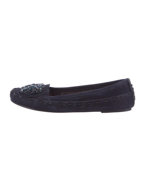 Vera Wang Suede Moccasins Blue